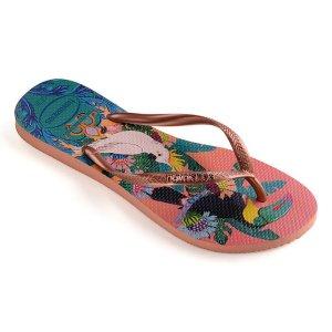 Havaianas印花夹脚拖鞋