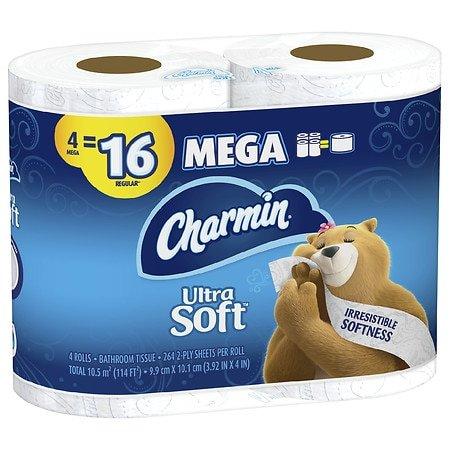 Charmin 超柔双层卫生纸4大卷,相当于16卷