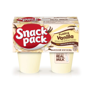 $7.25Snack Pack Vanilla Pudding Cups, 4 Count, 12 Pack