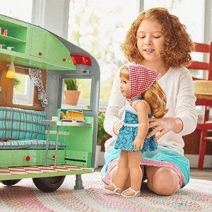 一口价运费 部分娃娃包邮American Girl美国娃娃官网 精选配件低至5折促销,面向大众