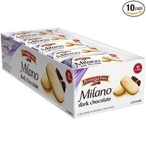 Pepperidge FarmMilano 黑巧克力曲奇饼 10包独立包装