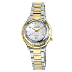 CitizenSunrise Two Tone Stainless Steel Mother of Pearl Dial Women's Watch