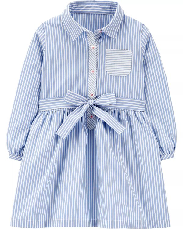 婴儿条纹连衣裙