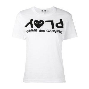 COMME DES GARCONS PLAYLogo T恤