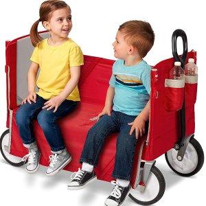 $134.97(原价$150.97)Radio Flyer 3合1 可折叠 儿童双人拖车 带顶蓬 带娃溜达溜达