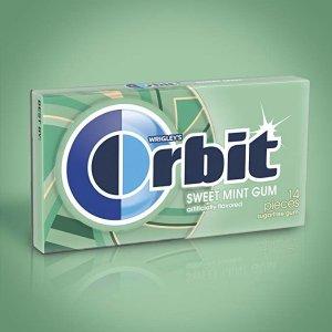 $11.63 每片只要$0.04Orbit 无糖型薄荷口味口香糖促销 20包