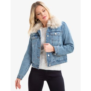 US Polo AssociationDENIM JACKET WITH FUR COLLAR