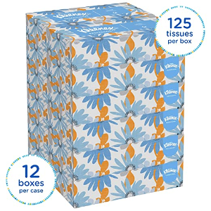 Kleenex Professional Facial Tissue 12 Boxes/125 Tissues