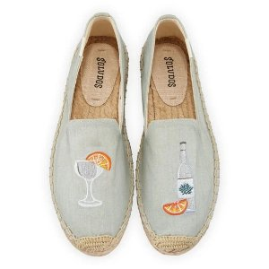 SoludosAgave Embroidered Espadrille Smoking Slippers