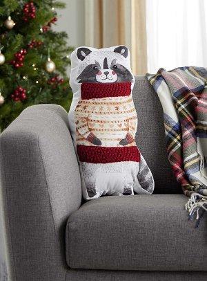 Cozy raccoon cushion 27.5cm x 50cm   Simons Maison
