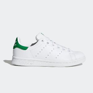 $23.99 包邮延长一天:Adidas Originals Stan Smith 小童绿尾运动鞋