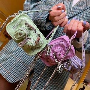 无门槛8折 £79收粉色斜挎包Nunoo 丹麦小众新款美包大促 Ins风平价大腕儿