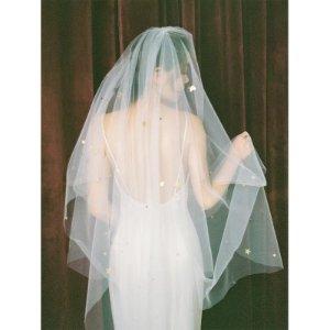 手工制作新娘双层遮面头纱