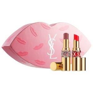 $55 (价值$74)YSL 圆管唇膏 2件套超值套装上线