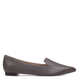 Nine WestAbay Smoking Flats - Grey Leather