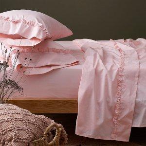 7折起 低至$9.5Simons 床单、枕套热卖   200针纯棉小粉床单套装$49.95
