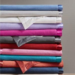 Martha Stewart Collection 超柔软绒面盖毯