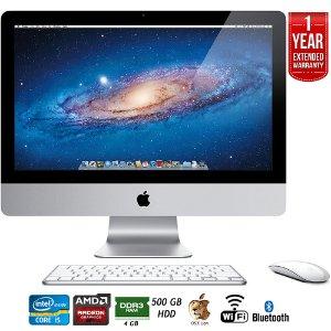 $249.99 Free 1-year warranty Ext.Refurbished Apple iMac MC309LL/A 21.5-Inch 500GB HDD Desktop