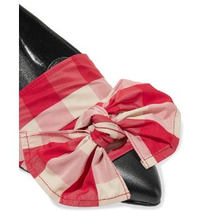 Trademark | Adrien bow-embellished canvas and leather wedge slippers | NET-A-PORTER.COM