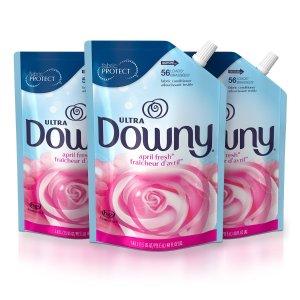 $10.37 免邮Downy Ultra液体衣物柔顺剂填充48Oz. 3包