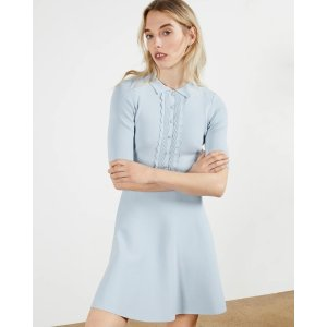 Ted BakerTILLIII Scallop Bodice Knitted Dress