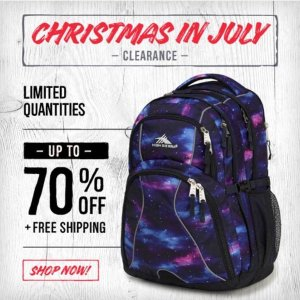 Up to 70% Off + Free ShippingChristmas in July Clearance @ High Sierra