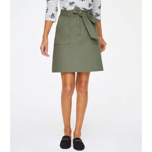 LOFT OutletWashed Twill Tie Waist Skirt
