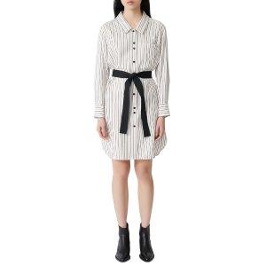 Maje条纹衬衫裙