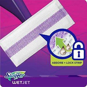 年度低价$11.37 (原价$15.49)Swiffer Wetjet 拖把湿抹布替换装 24片 强力吸水 居家必备