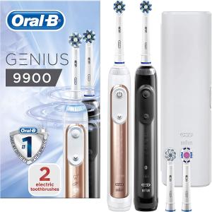 含税免邮中国¥1088Oral-B Genius 9900顶级款电动牙刷 2支装+4刷头