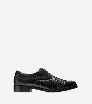 Women's Jagger Grand Weave Oxfords in Black | Cole Haan
