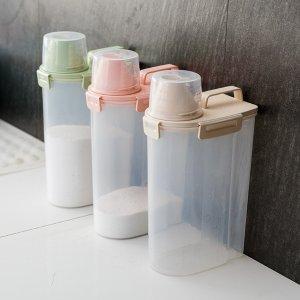 厨房收纳盒 手提米桶带量杯【1.5L/2.5L】