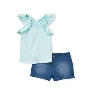 低至1.4折+免邮  海量上新Century 21儿童服饰年中大促 封面清新薄荷绿套装2.1折收