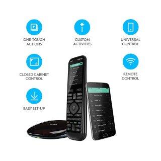 5.5折!现价£164.86(原价£299.99)史低价:罗技Logitech Harmony Elite旗舰级遥控器 + Hub + App热促