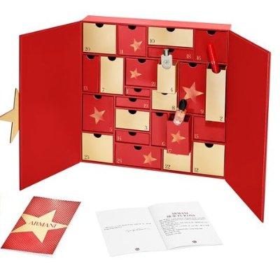 8.5折到手 送写真一套Armani 阿玛尼2019圣诞美妆日历开售 含正装红管唇釉