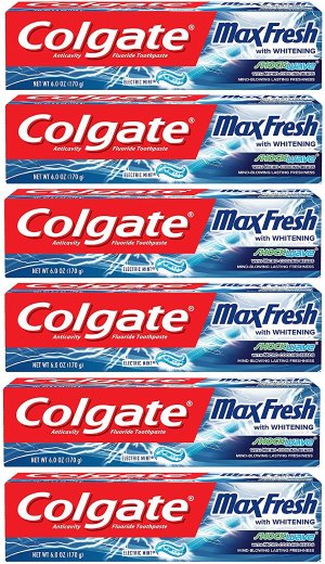 $11.34Colgate Max Fresh Shockwave Toothpaste with Cooling Beads Mint 6 pack