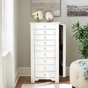 Home Decorators Collection Oxford White Jewelry Armoire