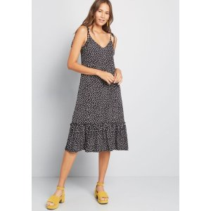 ModClothIt's a Go Tie Shoulder Dress