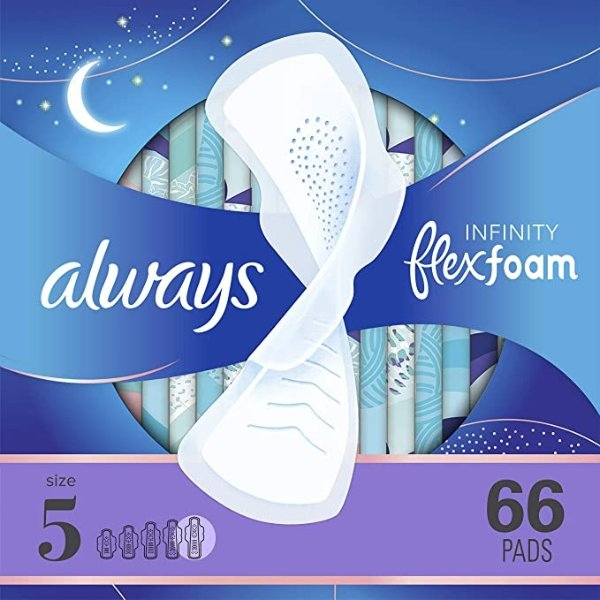 Size 5夜用液体卫生巾 22片 x 3盒