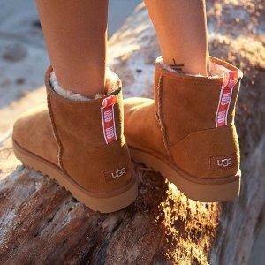 UGG 雪地靴、毛毛拖鞋热卖 收可爱蝴蝶结雪地靴