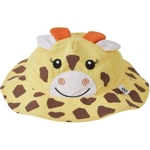 $5.5(原价$14.99)Zoocchini 小宝宝 UPF 50+ 长颈鹿渔夫帽 可爱值拉满