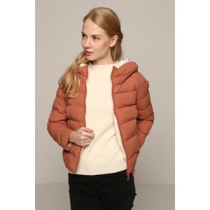 Burnt Orange Quilted Coat