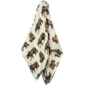 Milkbarn竹制人造丝小毯子