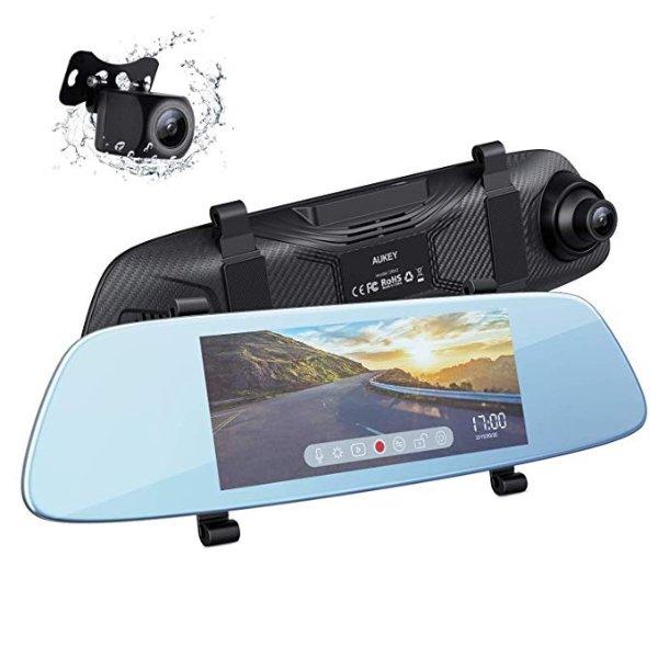 DRA2 后视镜式双摄像头行车记录仪