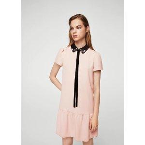 MangoBabydoll neck dress - Women | OUTLET USA