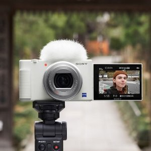 白色ZV-1女神相机仅$586B&H Sony 教育优惠 专业相机镜头等额外8折 $2473收a7R IV