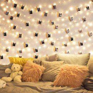 DOFASAYI 33英尺100颗LED仙女灯串