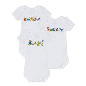 Petit Bateau婴童包臀衫3件套