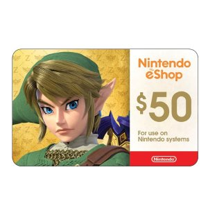 Nintendo $50 eShop Digital Card