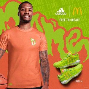 $160+包邮上新:Adidas官网 Basketball x McDonald's 麦当劳口味的联名鞋来袭